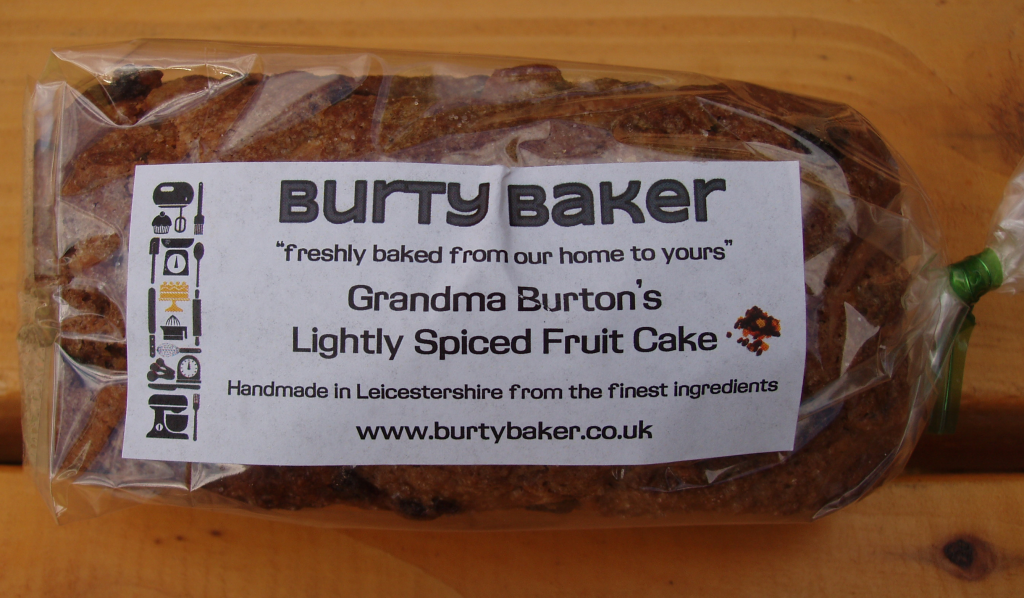 Burty Baker Lightly Spiced Fruit Cake