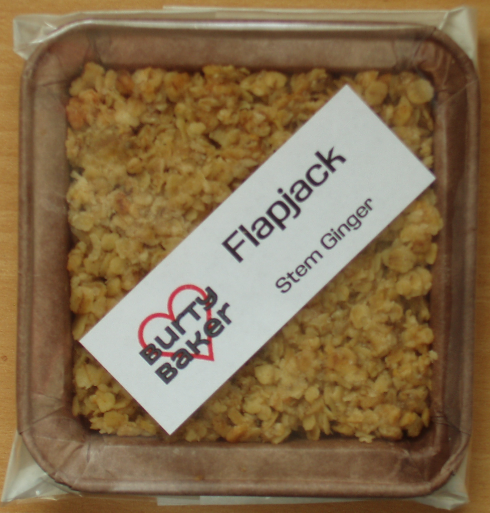 Burty Baker Stem Ginger Flapjack